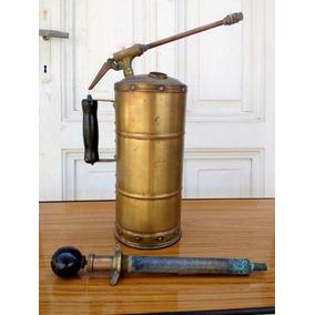 Antiguo Fumigador / Pulverizador De Bronce Completo
