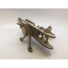 Souvenirs Infantiles Avion Antiguo De Fibrofacil
