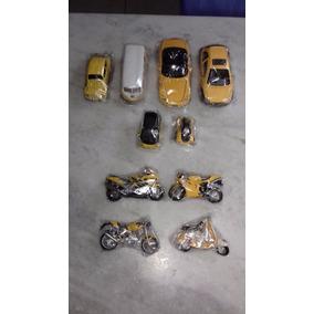 Kit Miniaturas Com 6 Carros E 4 Motos Em Metal (c)