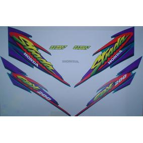 Kit Adesivos Honda Cbx 200 Strada 1999 Verde