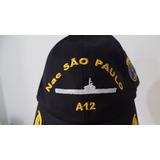 Boné Chapeu Porta Aviões Nae São Paulo A12 Marinha Brasil