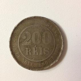 Moeda 200 Réis 1889 República Em Cuproníquel