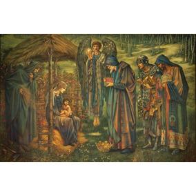 b4db52b7609 Lienzo Tela Estrella De Belén Edward Burne Arte Sacro 50x70