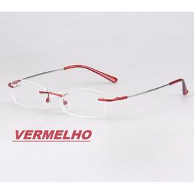 455cc79e7 Armação Em Titânio Memory P/ Óculos De Grau Haste Flexível. 7 cores. R$ 50