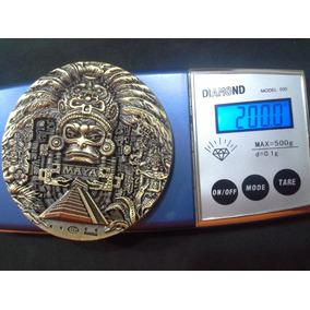 Lindíssima Medalha De Bronze Com Prata De 200g Profecia Maya