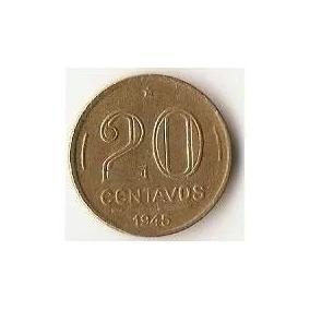 Raridade - Antiga Moeda De 20 Centavos, De 1945 Colecionador
