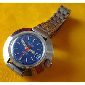 Silvana Reloj Suizo Azul Retro De Colección Antiguo Dama Swt