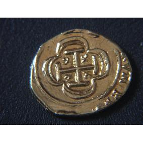 Moeda Tempo Dos Piratas-banhada Em Ouro-réplica 2 Escudos