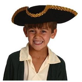 Revolucionario Niños Guerra Deluxe Colonial Tricorn Sombrero 06777a0d570