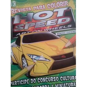 Revista Hot Speed Para Colorir. Nº 06 Ano 2012. 16 Páginas