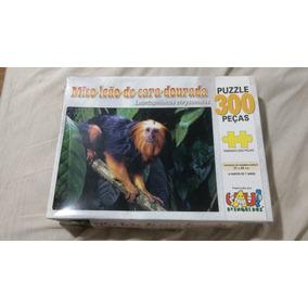 Quebra Cabeça 300 Peças Mico Leão De Cara Dourada
