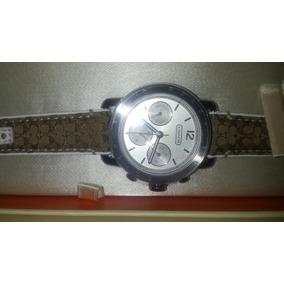 Reloj Coach Color Plata, Original, Caja.