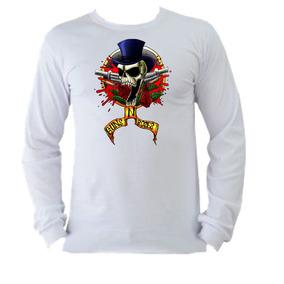 Camiseta Guns N Roses Manga Longa Camisetas Masculino - Camisetas e ... 0f8d4e45b9853