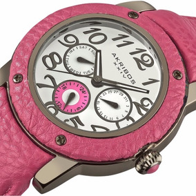 Reloj Rosa Piel Dama Akribos Xxiv