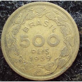 Moeda 500 Réis - Amarela - 1939 - Machado De Assis - G
