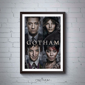 Quadro Decorativo Série Gotham Batman 40x30cm