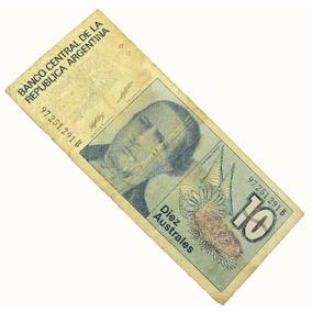 10 Diez Australes Raríssima Nota Cédula Da Argentina N0022