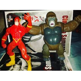 The Flash Vs Macaco Liga Da Justiça 2 Bonecos Marvel Raro