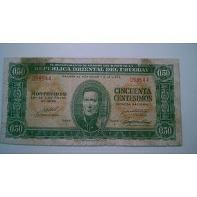 Nota De 50 Centesimos Do Uruguay
