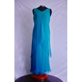 Vestidos azul aqua largos
