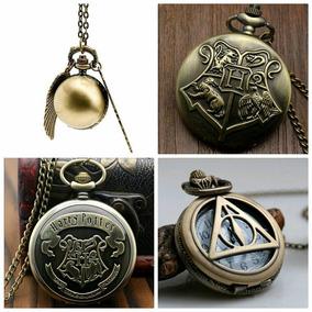 Reloj Harry Potter Snitch Reliquias Hogwarts Escudos Casas