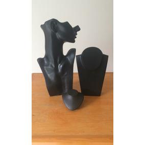 Kit 3 Piezas Exhibidores Delux Para Collares Negro