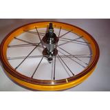 Roda De Aluminio Para Bike Aro 16 Amarelo Traseira
