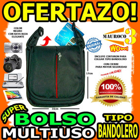 Bolso Camaras Ds Tablet Estuche Multiuso Bandolero Psp Wow
