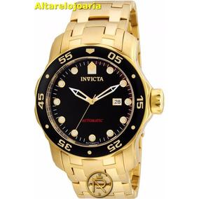 Relógio Invicta Pro Diver Automatico Plaque Ouro