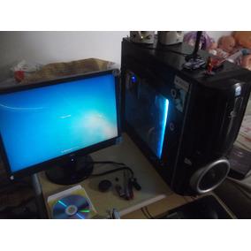 Pcgame Completo, Monitor, Fone, Caixa De Som E Mouse