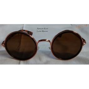 Óculos Redondo Est John Lennon Ozzy Woodstock Beatles L Roxo ... ffcd4b3419