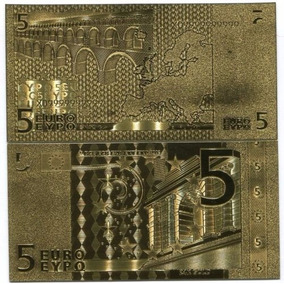 Euros 5 Euros - Eypo Folheado A Ouro