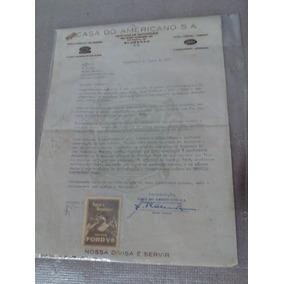 Documento De Entrega Ford V- 8 1959 Com Selo Antigo E Raro.