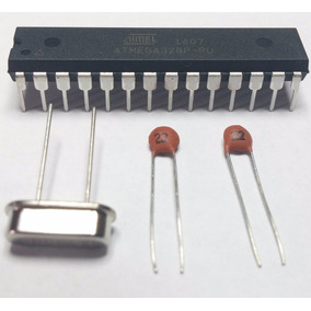 Atmega328 Atmega328p-pu + Capacitores + Cristal - Arduino