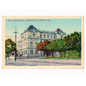 Cartao Postal Tipografico Sec. Agricultura Belo Horizonte