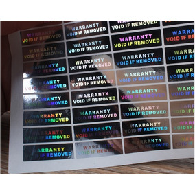 1000 Selos Holográficos Lacre De Segurança Void 30x10mm