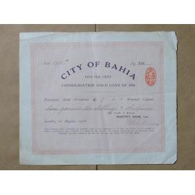 City Of Bahia Acão 7 Libras/2 Shillings 1918 Sede Londres