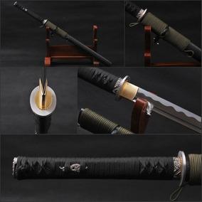 Espada Ninja Wakizashi Lâmina Afiada Aço 1060 Ninjato Katana