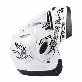 Capacete Taurus Zarref V3 - Branco Femme Classic Tamanho 56