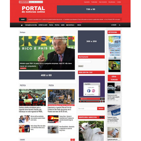 Script Php Portal De Noticias Varias Cores De Layout - Informática ... 9e6460ab27054