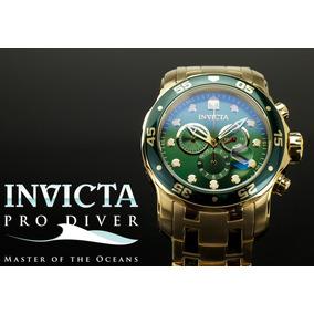 Relógio Invicta Pro Diver 0075 Ouro 18k 100 % Original