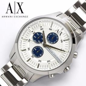 Relógio Armani Exchange Branco E Prata Com Strass - Joias e Relógios ... a82287e231