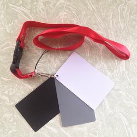 Cartão Cinza Gray Card Kit 3 Em 1. Balanço De Branco Flash