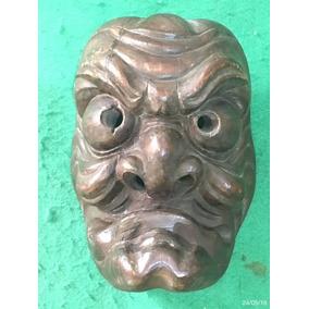 * Arte Chinesa ( Máscara ) Muito Antiga - Entalhada *