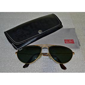 e2ef2270ff9b7 Óculos Ray Ban Aviador Caçador Vintage Antigo Lente Verde Bl