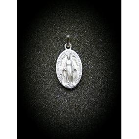Medalla Escapulario Virgen Milagrosa Plata 925