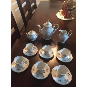 Antiguo Juego De Cafe En Porcelana Maua , Precioso.