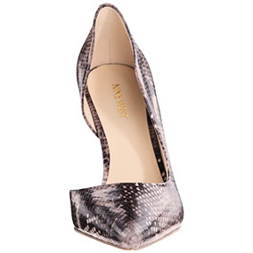 Oferta! Zapatos Nine West Piel De Serpiente T. 24.5 Nuevos