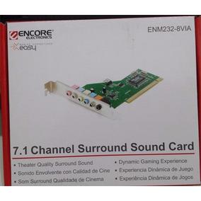 Placa De Som Encore 7.1 Enm232-8via - Nova - Na Caixa.