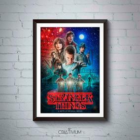 Quadro Decorativo Série Stranger Things 40x30cm (poster)